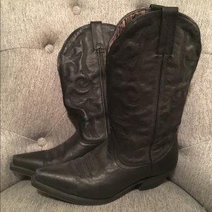 Laredo black leather cowgirl boots